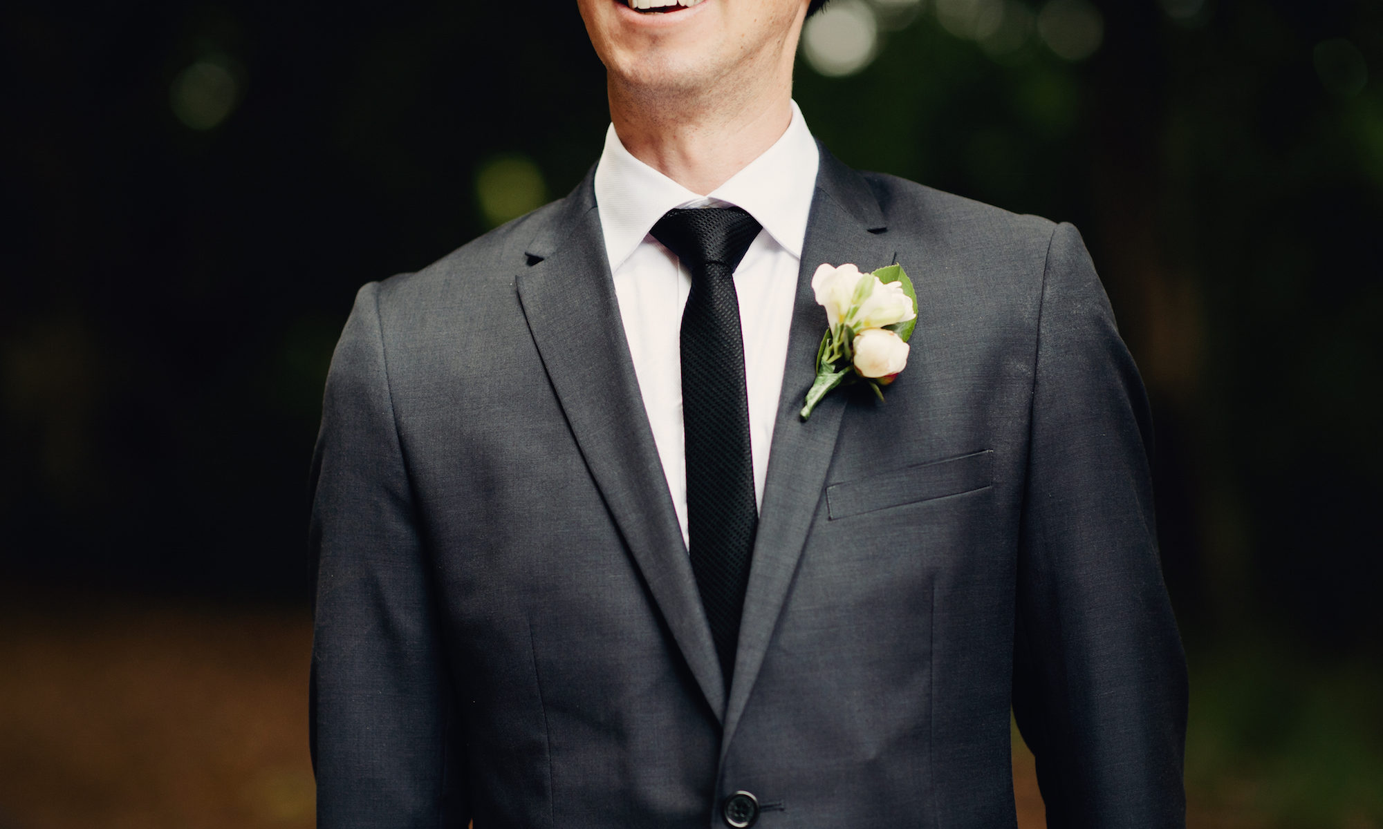 A groom on his wedding day